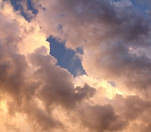 Connecting with God - Image of Clouds with Opening
