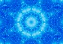 light blue celestial mandala