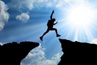 positive-thinking-quotes-hiker-jumping-across