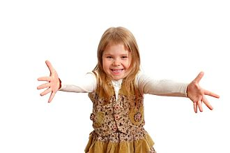 Psychometry Through A Hug - Little Girl With Outstretched Arms